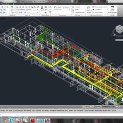 Remodelling von 3D Laserscandaten in AutoCAD MEP
